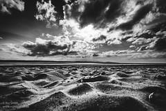 Thurstaston Sky (Roj) Tags: blackandwhite bw beach monochrome clouds mono sand bigsky canonef1740mmf4lusm wirral canon5dmkii