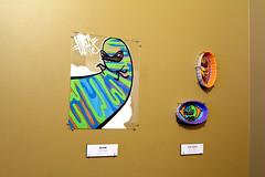Art Hanging (!yfmoc) Tags: seattle street art glass painting artwork fine ash tray trays comfy