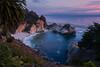 McWay Falls (Tōn) Tags: ocean california sunset beach clouds landscape waterfall unitedstates pacific pacificocean waterscape mcwayfalls juliapfeifferstatepark bigsurs tonyvanlecom