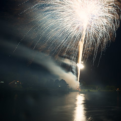 Fireworks, Canada Day, July 1, 2013 #23 (lynn.h.armstrong) Tags: camera sky ontario canada art water colors st night reflections river lens photography 1 evening town photo lawrence aperture nikon long flickr day colours photographer waterfront fireworks wordpress smoke south july jim blogger images lynn livejournal h getty nik nikkor explosions fx armstrong stormont facebook malone sault ingleside twitter 2013 tumblr d7000 lynnharmstrong pinterest