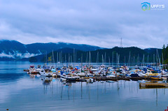 Deep Cove - North Vancouver (Uffys Picture Memories) Tags: travel canada tourism beautiful vancouver landscape fun boats harbor gloomy cloudy britishcolumbia columbia calm rainy enjoy deepcove northvancouver westcoast laidback britsh