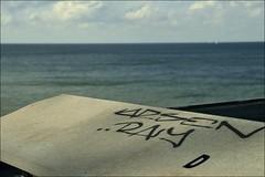 Guess where Kiel! (liebeslakritze) Tags: unguessed seaside grafitti himmel tags balticsea blau ostsee kiel wetter guessedbychipsmitmayo guesskiel