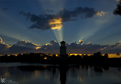 Sunset at Heritage Harbor (Dennis Cluth) Tags: sunset art landscape florida bradenton lightrays