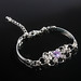 Delicate lichtpaars strass armband