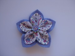 Lilac Flower Brooch (ONE by one) Tags: flower handmade brooch lilac fuxico brooches 2013 onebyone