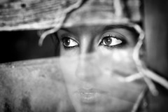 Nostalgia (dmelchordiaz) Tags: summer eye window glass girl beauty lady ventana ojo eyes chica rustic nostalgia galicia ojos verano bella cristal rstico galician homesickness loging dmelchordiaz artofvisionpeople