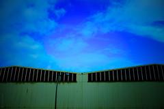 Factory Buildings (donlunzo16) Tags: city light sky colour building film lamp sunshine aperture factory fuji stuttgart pole pack 02 fujifilm preset vsco x100s