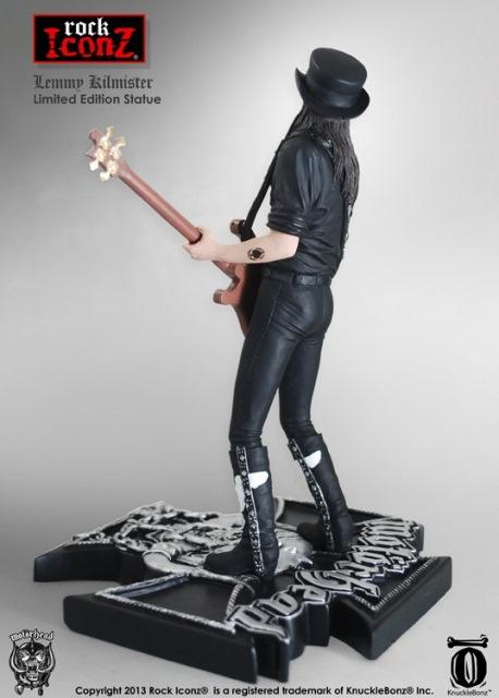 KnuckleBonz – Lemmy Kilmister 機車頭樂團 靈魂主唱 9 吋 全身雕像