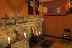Alt.Worship - Healing Service (Urban Abbey) Tags: icons cross prayerflags altworship prayerroom healingservice