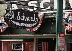 A. Schwab sign, 163 Beale St, Memphis, TN, USA (lumierefl) Tags: usa brick sign unitedstates tn memphis tennessee 19thcentury business commercial shops northamerica southeast stores 1860s drygoods varietystore shelbycounty