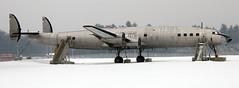Lockheed Starliner N8083H (707-348C) Tags: usa maine auburn lockheed starliner spares propliner n8083h l1649 cn1038 auburnlewistonmunicipal