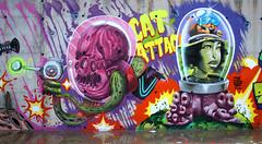 Marcianos (Napol One) Tags: valencia graffiti tbs turkesa napol