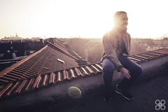 Pete On Top Of Jungbusch (Music   Portraits   Reportage) Tags: portrait sun rooftop felix pete sonne dach mannheim ausblick huth jungbusch