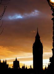 Big Ben In Silhouette (HuetBartels) Tags: sunset london silhouette bigben