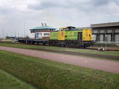 RRF 23 at USA terminal, Amsterdam Westhavens, March 1, 2014 (cklx) Tags: v100 23 rrf westhavens usaterminal rotterdamrailfeeding terhaak amsterdamwesthavens