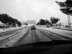 Amman Snow (Rukasu1) Tags: road blackandwhite bw white snow storm black 4 amman jordan nexus tareq 2013 nexus4