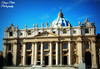 St. Peter's Basilica, Vatican (Terezaki ✈) Tags: trip travel blue vacation sky italy vatican rome roma yellow photography gold photo europe italia searchthebest pictureperfect stpetersbasilica 2014 naturesfinest 50faves anawesomeshot flickrdiamond theperfectphotographer bestoftheday