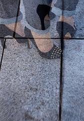 Those shoes (Multiple exposure) (richard314159) Tags: colour digital birmingham exposure olympus double multipleexposure photograph multiple dslr eastside zuiko 43 e420 1442mm richard314159 bfm0314