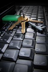 K = Keys 1 (happyacko) Tags: house colour macro k keys laptop vignette 2014 ddcc project52 happyacko