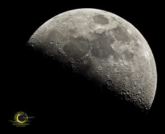 moon 5-6-14 9242 fkr logo (Light of the Moon Photography) Tags: moon nikon first luna telescope crater quarter meade d7000