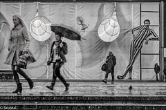 a rainy day at Oslo Central Station (hpskurdal) Tags: street people rain station oslo norway hpskurdal