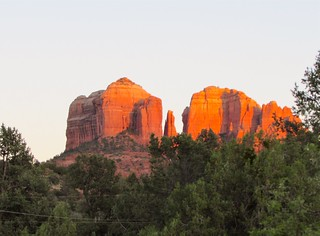 Sunset lights Cathedral Rock