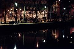 12Anne-Marie Bonnisseau Canal Saint-Martinred (Anne-Marie Bonnisseau) Tags: paris canal lumière couleurs nuit lumire