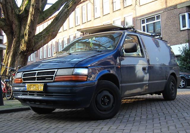 25 dodge voyager 1995 chrysler caravan van ram td dodgeramvan grijskenteken sidecode5 vfbl34