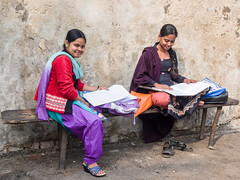 Studying English History in Shobhabazar! (Mike Prince) Tags: india girl unknown schools studying kolkata westbengal artandarchitecture architectureandbuildings shobhabazar
