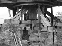 Chinnor Windmill Trestle (cycle.nut66) Tags: wood trestle brick windmill four post piers olympus micro restored strong restoration curb weight beams rebuild thirds bearing oxon chinnor epl1 oxfrordshire mzuiko
