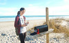 32/365 February 1, 2015 (Lindsey Jean 5) Tags: ocean sea selfportrait beach girl mailbox self northcarolina wrightsvillebeach wrightsville uncw
