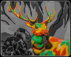 Ron English. (Suggsy69) Tags: streetart london art nikon stag deer shoreditch selectivecolour ronenglish d5100