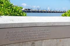 FDR Quote (sarowen) Tags: hawaii harbor oahu quote pearlharbor honolulu ussarizonamemorial franklindelanoroosevelt honoluluhawaii honluluhi wwiivalorinthepacificnationalmonument