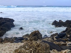 (erintheredmc) Tags: ocean travel blue winter vacation holiday beach coral lost volcano hawaii islands big paradise waves skies break fuji escape pacific oahu erin north rocky location tourist wanderlust shore hawaiian fujifilm february filming mccormack crashing 2015 tailies f900exr