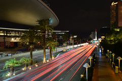 Las Vegas Boulevard North (photothiel) Tags: longexposure motion night lights nikon boulevard lasvegas nevada north d610