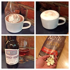 "After clearing snow for the second time, we all needed something to soothe our New England souls. So, this is being enjoyed in the farmhouse kitchen right now: hot chocolate, cappuccino, local craft beer from @smuttynosebeer and @kettlebrand maple bacon p • <a style=""font-size:0.8em;"" href=""https://www.flickr.com/photos/54958436@N05/16380795111/"" target=""_blank"">View on Flickr</a>"