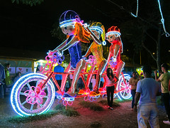 Bicycle built for three (beeffaucet) Tags: christmas lights colombia medellin
