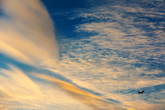Out There And Back (Andy Marfia) Tags: winter sunset sky chicago clouds airplane iso200 flying away f8 cloudporn rogerspark 1640sec d7100 1685mm