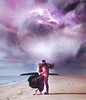 Electric (veldreannija) Tags: blue light boy summer sky selfportrait storm art love nature girl electric clouds couple artist purple fineart romance story human blond electricity lightning magnetic fineartphotography thuderstorm annija clpuds annijaveldre