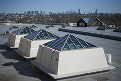 4/17/2016 - Medford/Somerville, MA - Tisch Roof overlooks the Boston skyline on Sun Apr 17, 2016. (Ray Bernoff / The Tufts Daily) (consolecadet) Tags: college campus university daily tufts tisch tuftsuniversity tischlibrary tuftscampus tischroof tuftsdaily