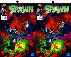 Spawn Stereo (caffeineandpixels) Tags: stereoscopic 3d stereo comicbook superheroes stereography