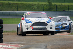 Ford Fiesta (15) (Camilla Antonsen) & Volvo C30 (6) (Daniel Lundh) (tbtstt) Tags: world 3 monster championship belgium round jules circuit rallycross 2016 tacheny mettet
