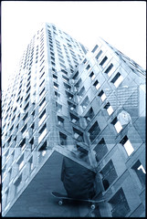 stairs (Adrian Ferdinand) Tags: rotterdam nikon exposure double 200 scala agfa fm2