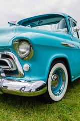Fancy beast of burden (GmanViz) Tags: color detail chevrolet car wheel truck nikon automobile pickup tire bumper fender chrome 1957 cameo headlight grille whitewall gmanviz d7000