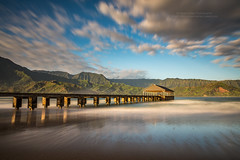 Kauai's Hanalei Pier (PIERRE LECLERC PHOTO) Tags: longexposure travel beach landscape hawaii pier kauai hanaleipier hanalei pierreleclercphotography