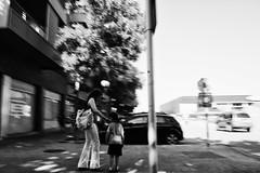 --- (ivaslop) Tags: life street city blackandwhite woman sun blancoynegro sol calle mujer afternoon catalunya figueres tarde