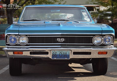 50 Year Old Face (Hi-Fi Fotos) Tags: blue chevrolet face vintage nikon classiccar ss front 1966 66 chevelle chevy chrome american grille musclecar supersport 396 d5000 hallewell hififotos