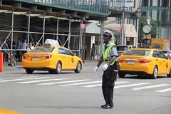 5th Avenue (aka Jon Spence) Tags: nyc newyorkcity newyork traffic manhattan cab taxi yellowcab 5thavenue whistle policeman trafficcop