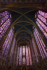 stunning interior of Sainte Chapelle with its amazing colourful medieval stained glass and gold gilding, Paris, France (grumpybaldprof) Tags: light paris france colour building church architecture contrast gold golden amazing paint king interior gothic chapel stunning christianity luminous relics goldleaf gilding extensive conciergerie vibrancy rayonnant 1248 13thcentury stainedglass capetian saintechapelle gothicarchitecture royalpalace gothicstyle louisix kinglouisix passionrelics palaisdejustice iledelacite ledelacit