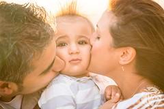 Skwishy cheek kisses (brandon.vincent) Tags: family sunset portrait baby cute beach face island hawaii toddler kiss smooth adorable maui skwish